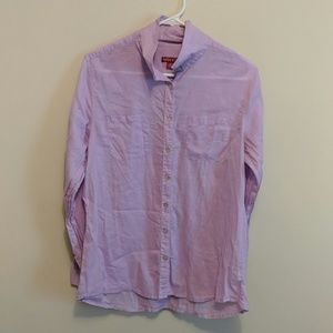 Women's purple button down shirt